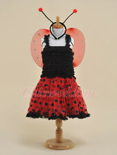 Ladybirds Kids Girls Dancewear Flower Girl Dress Pageant Birthday Party S-M-L