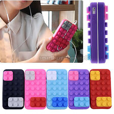 Funny Lego Brick Block Flexible Silicone Soft Back Case Cover For iPhone 4 4S US