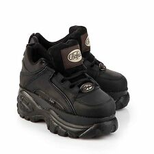 New Buffalo Classic Boots 1339-14 BLACK Platform Shoes Trainers Sizes UK 3-8