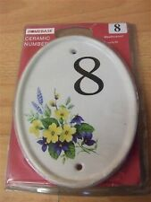 New Porcelain Oval House Door Flat Home Number #1-50 limited stock Plate Plaque