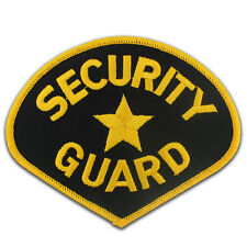 Security Guard Black and Gold Embroidered Patch for Uniform Jacket