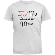 Mothers Day - I Heart My Awesome Mom White Adult T-Shirt