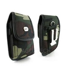 Camouflage Vertical Nylon Canvas Metal Belt Clip Loop Case Cover for Cell Phone