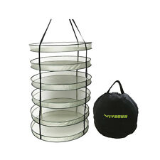 "32""/ 24"" Detachable 6 Tiers Hanging Herb Drying Rack Plant Dryer Net Hydroponics"