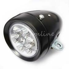 Black Classic Vintage Bike Bicycle 6 LED Front Lumen Light Lamp Flash Headlight