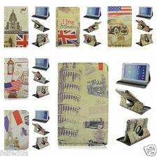 Retro Rotatable Folio Stand Leather Case For Samsung Galaxy Tab 3 7.0 T210/P3200