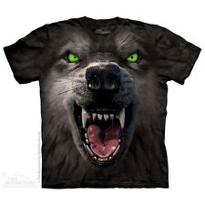 THE MOUNTAIN BIG FACE ATTACK WOLF ANIMAL NATURE FIERCE KILLER T TEE SHIRT S-5XL