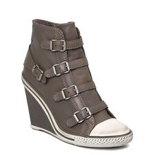 ASH Fashion Thelma Perkish High Top Ankle Wedge Sneakers Hidden Heels Shoes
