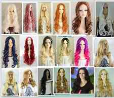 "charming!(18 colors) long curly women""s  cosplay Heat Resistant  wig + net cap"