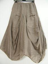 LAGENLOOK 100% LINEN LINO PARACHUTE SKIRT IN 9 COLOURS ONE SIZE TO FIT 12-16
