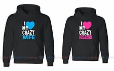 Love My Crazy Wife & Husband - Couple Matching Hoodies - For His and Her Hoodies