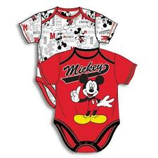 Baby Boy Clothes : Red Mickey Mouse Boy Baby Bodysuit Shirt Set NWT 0-9 Months