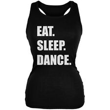 Eat Sleep Dance Black Juniors Soft Tank Top