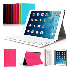 Leather Stand Case With Bluetooth Keyboard ABS UK Layout For Apple iPad Mini 3 2