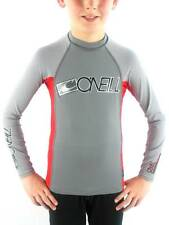 O'Neill Rashguard Schwimmshirt Skin gray red UV Protection long sleeve