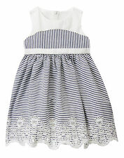 NWT Gymboree Marina Party Striped Eyelet Dress Toddler Baby Girl