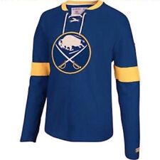 CCM by REEBOK NHL Buffalo Sabres Crew L/S Rib Knit Cotton Shirt NEW Mens Sz XL