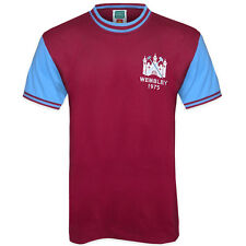West Ham United FC Official Football Gift Mens 1975 FA Cup Retro Home Kit Shirt