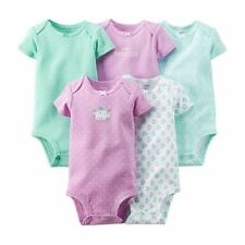 New Carter's 5 Pack Bodysuits Elephant Floral NWT Size NB 3 6 9m 12m 18m 24m