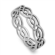 Sterling Silver Woman's Celtic Infinity Ring Wholesale 925 Band 5mm Sizes 7-12