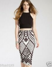 Lipsy Women`s Ladies Black and White Tribal Pencil Size 10