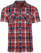 Superdry Men's Washbasket Plaid Short Sleeve Shirt-Surfside Red Check