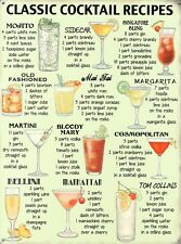 New Classic Cocktail Recipes Favourite Cocktails Metal Tin Sign
