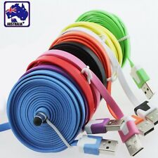 3M 8Pin iPhone 5S 5C 5 6 iPod iPad 4 Mini Noodle USB Data Charger Cable ENIPH33