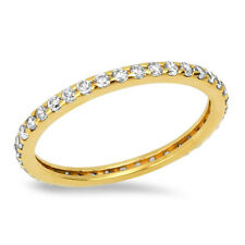 Gold Ring Solid Yellow Gold 14ct or 9ct Size J to S Eternity Ring Hallmarked