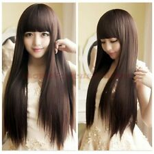 Fashion Style Women's Girls Cosplay Party Long Straight Hair Wigs Full Wigs New