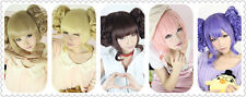 Lolita 6 colors Cosplay Wig 2 Clips Ponytails Curls hair wig free shipping + No