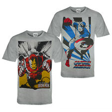 Marvel Comics Official Gift Mens T-Shirt Iron Man Captain America