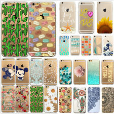 Various Flower Pattern Clear Hard Back Case Cover for iPhone 5 5S 5C 6 6 PLUS