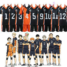 Haikyuu Karasuno Volleyball Sportswear Uniform Jersey Shorts Cosplay Costume S