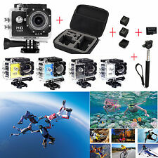 "SJ6000 W9 2.0"" WiFi 1080P Camera + Bag+2x battery + 32GB Card + Charger+ Monopod"