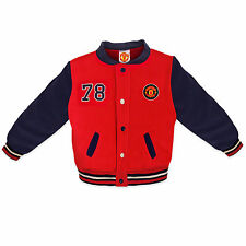 Manchester United Football Club Official Gift Baby Boys Baseball Varsity Jacket