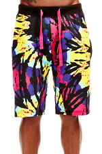 MENS TIE DYE ACTIVE SHORTS WITH ELASTIC WAIST 2215A