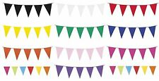 10m BUNTING - Plain Assorted Colours (Pennant/Banner/Party/Wedding/Decoration)