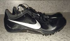 New Mens Sz 14 NIKE Zoom JA Fly Black Silver Track Sprint Spikes Shoes