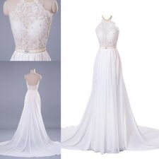 New Women Sexy Lace Long Chiffon Evening Party Prom Dress Women Bridesmaid Gown