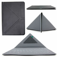 Ultra-Slim QWERTY Bluetooth Keyboard Case with Origami Folding Stand for Tablets