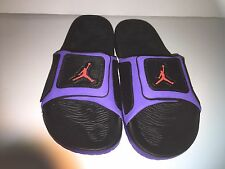 MENS NIKE JORDAN HYDRO  3 SLIDE SIZE 12  NEW 630754  BLACK PURPLE INFRARED