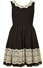 Bonnie Jean Big Girls' Lace To Chiffon Special Occasion Black Party Dress 7-16