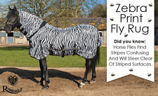 Rhinegold Zebra Print FLY RUG Combo Attached neck cover with Belly Flap ALL SIZE