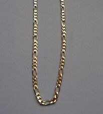 """CLASSIC RCI 14K YELLOW GOLD 3.5mm 24"""" FIGARUCCI CHAIN LINK NECKLACE - 14 GRAMS"""