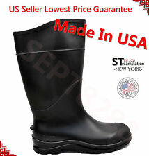 Men's Black Rain Boots Work & Safety Shoes Rubber Acidproof Alkaliproof