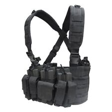 Condor Recon Airsoft Military Tactical Molle Chest Rig W/ 3 Built-in Mag Pouches
