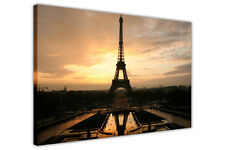 EIFFEL TOWER AT DAWN FRAMED CANVAS WALL ART PRINTS PARIS PICTURES CITY POSTERS