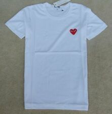 NEW COMME Des GARCONS CDG PLAY LOVE HEART MENS WOMENS SHORT SLEEVE T-SHIRT TEE