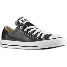 Converse Unisex All Star Chuck Taylor Black White LO Low Top Leather Sneaker